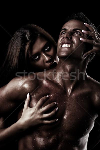болезненный грех молодым человеком заклинание девушки Сток-фото © georgemuresan