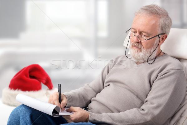 человека торговых список праздников красный Сток-фото © georgemuresan