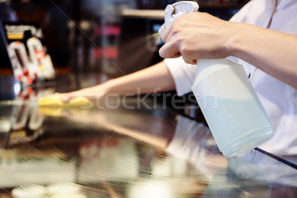 Maid Cleaning Service Stock photo © georgemuresan