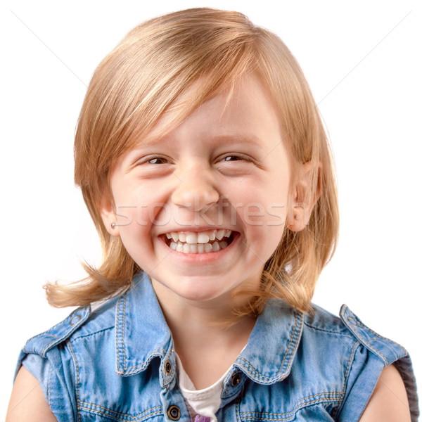 Cute riendo nina niña feliz ninos Foto stock © georgemuresan