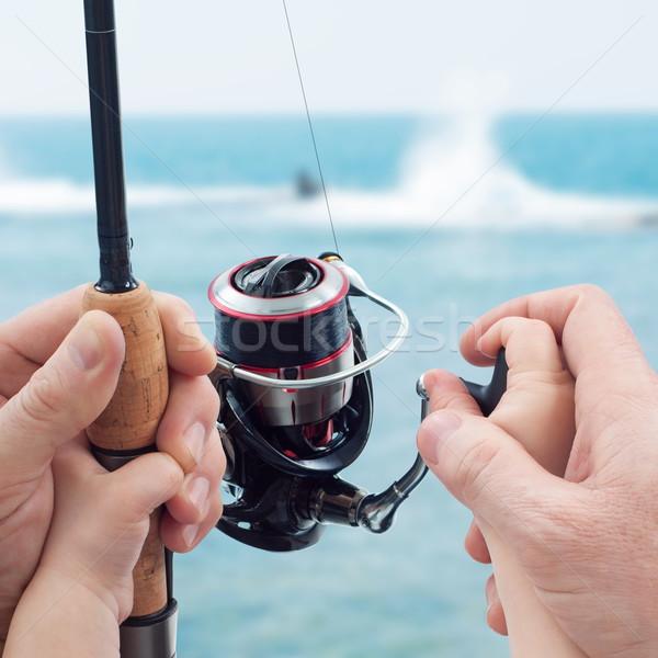 öğretim baba çocuk balık tutma aile gün Stok fotoğraf © georgemuresan