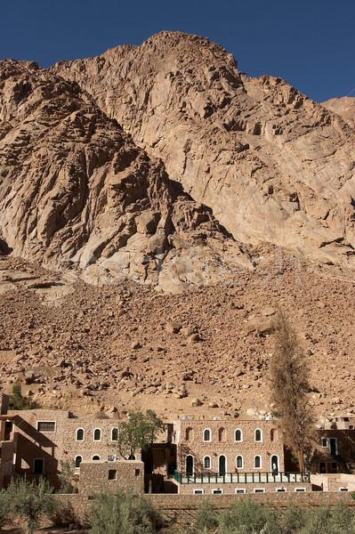 Klasztor niebo krajobraz pustyni kamień religii Zdjęcia stock © georgemuresan