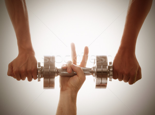 Stock photo: Helping hands