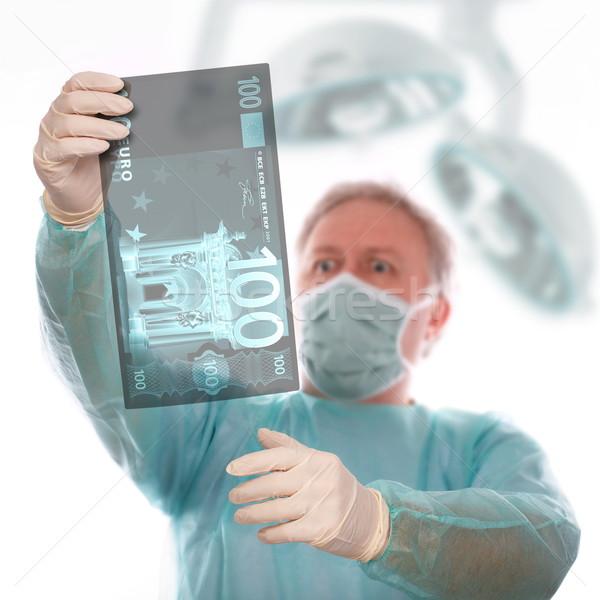 Euro betegség specialista röntgen elvesz utolsó Stock fotó © georgemuresan