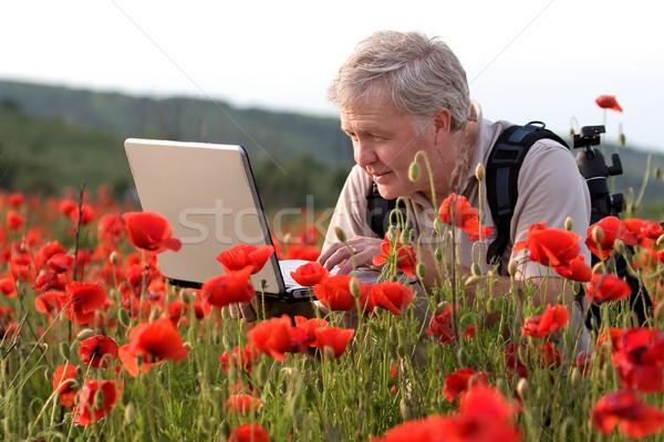 фотограф мак области поиск ноутбука бизнеса Сток-фото © georgemuresan