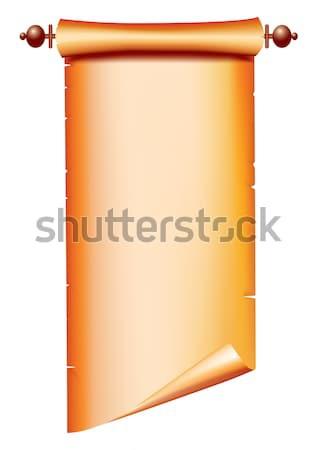 Scroll vector oud papier tekst achtergrond brief Stockfoto © GeraKTV