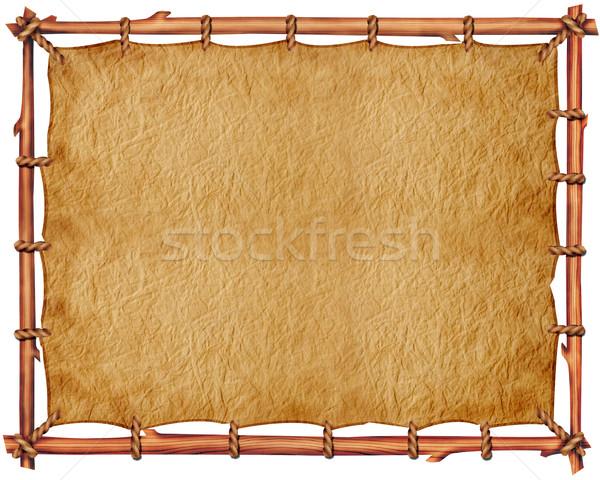 Oud papier tekst ontwerp textuur boek muur Stockfoto © GeraKTV