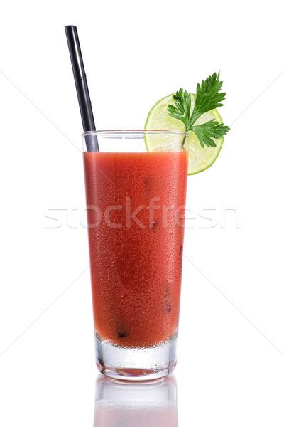 Sangrento cocktails isolado branco gelo bar Foto stock © Geribody
