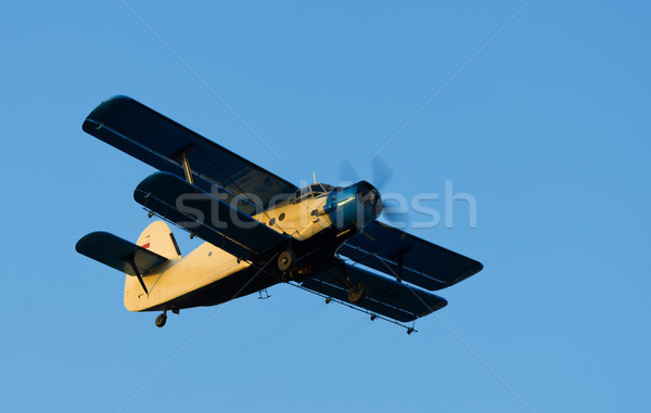 Velho avião céu tecnologia metal vintage Foto stock © Geribody