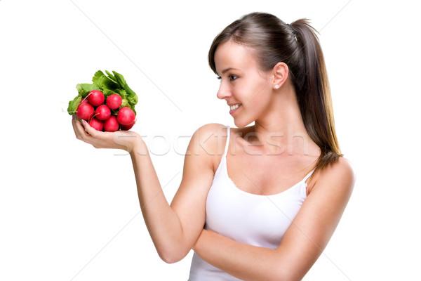 долго жить еды хорошие женщину Сток-фото © Geribody