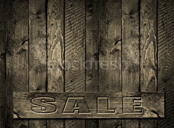 SALE engraved inscription