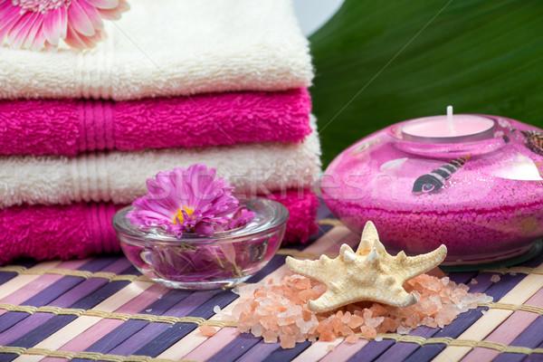Estância termal aromaterapia corpo beleza verde massagem Foto stock © Geribody