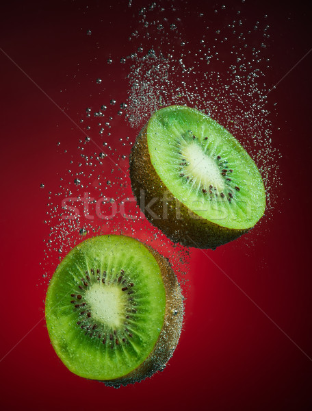Fresh kiwi with bubbles Stock photo © Geribody