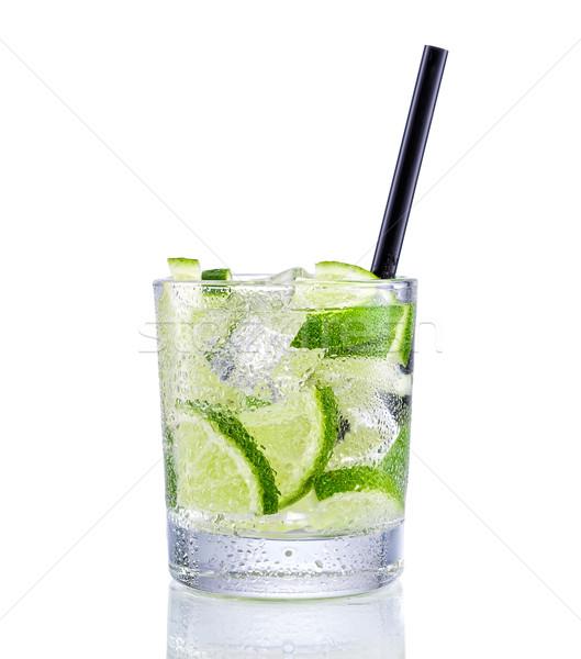 Mojito koktajl odizolowany biały wody strony Zdjęcia stock © Geribody