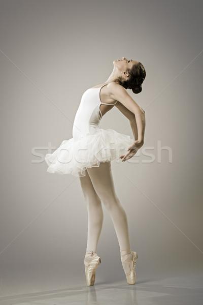 Portrait of the ballerina in ballet pose Stock photo © Geribody