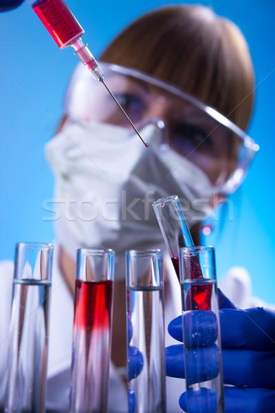 Laboratório mulher lab médico ciência trabalhador Foto stock © Geribody