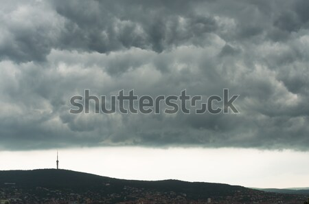 Gray clouds in the mountains Stock photo © Geribody