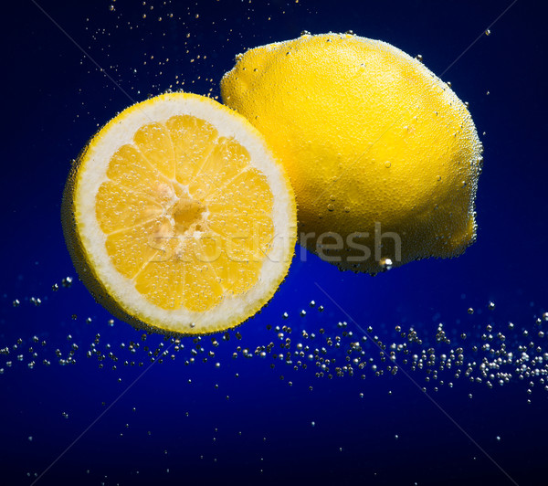 Fresh lemon with bubbles Stock photo © Geribody
