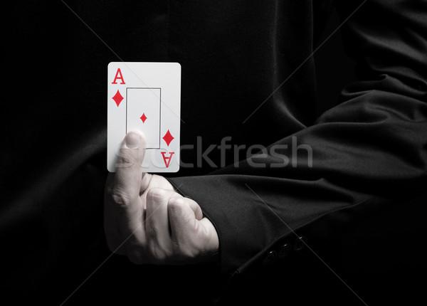 Empresário ás cartão atrás de volta Foto stock © Geribody