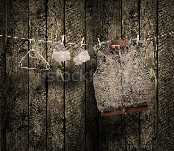women's winter clothes on a clothesline  Stock photo © Geribody