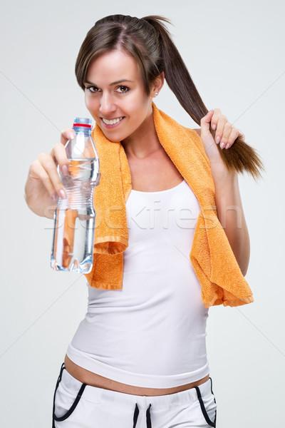 élet egészséges életmód képzés ital víz nő Stock fotó © Geribody