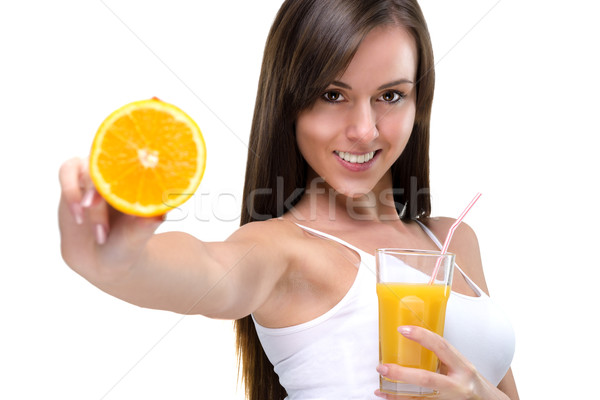 Healthy lifestyle! Drink orange juice, full of vitamins Stock photo © Geribody