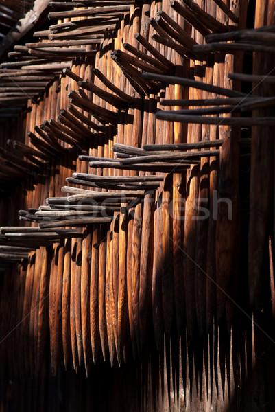 Tradizione erba agricoltura taglio molti impiccagione Foto d'archivio © Geribody