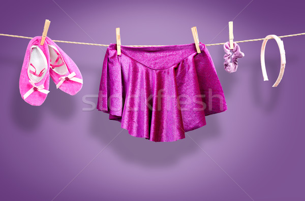Ballet kleding waslijn kind ontwerp Stockfoto © Geribody