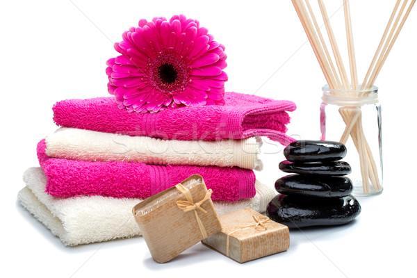 Estância termal natureza morta fragrância flor natureza corpo Foto stock © Geribody