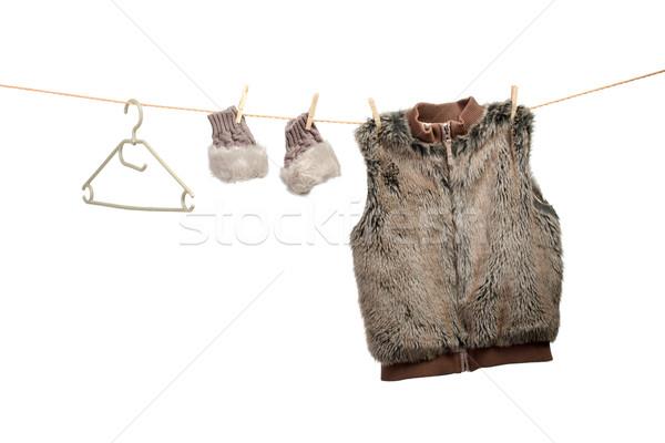 Kış kadın moda alışveriş Stok fotoğraf © Geribody