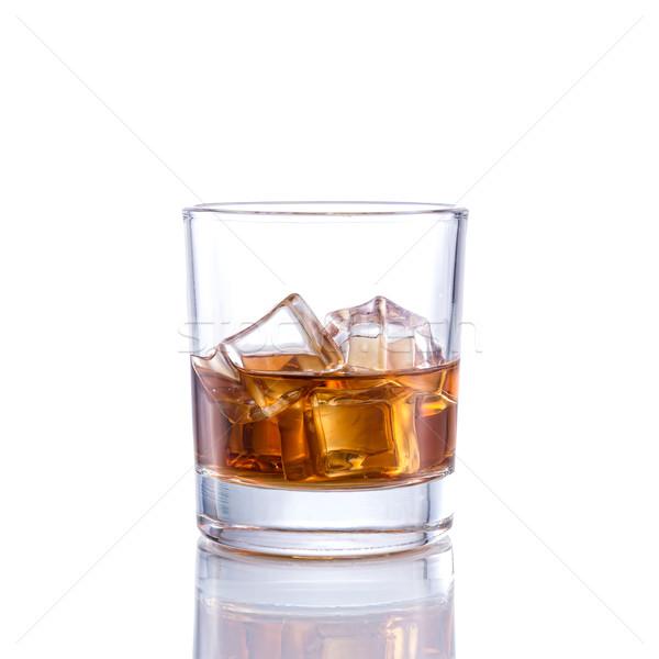 Whiskey ouderwets geïsoleerd witte glas achtergrond Stockfoto © Geribody