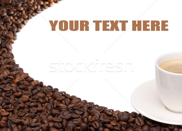Tanımlama içmek kahvaltı fincan beyaz Stok fotoğraf © Geribody