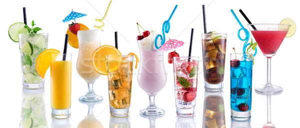 Cocktail Mix, many many cocktails next to each other Stock photo © Geribody