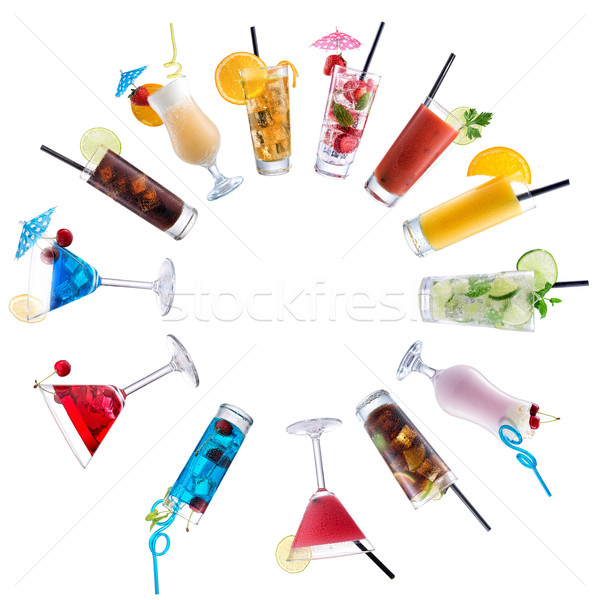 Cocktail Mix, paved circle Stock photo © Geribody