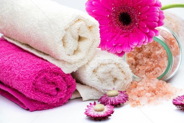 Spa banyo çiçek doğa Stok fotoğraf © Geribody