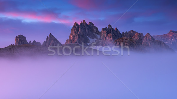 Beautiful sunrise on the mountain Cadini Di Misurina Stock photo © Geribody