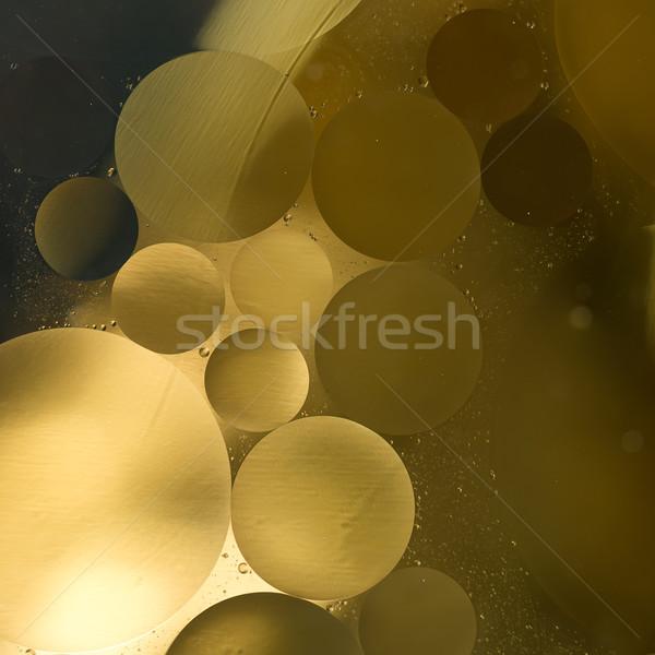 Or pétrolières noir gradient gouttes d'eau résumé Photo stock © Geribody
