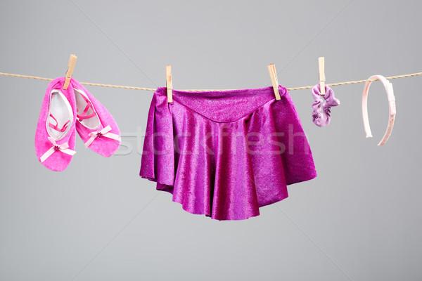 Balett ruházat kellékek ruhaszárító gyermek terv Stock fotó © Geribody