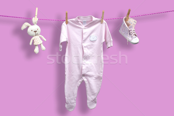 Baby clothes on the clothesline Stock photo © Geribody