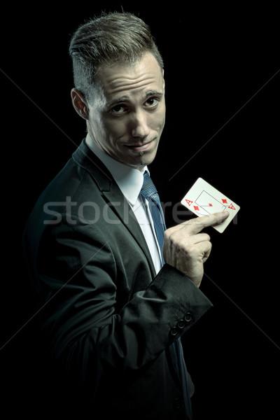 Affaires ace carte affaires modèle Photo stock © Geribody