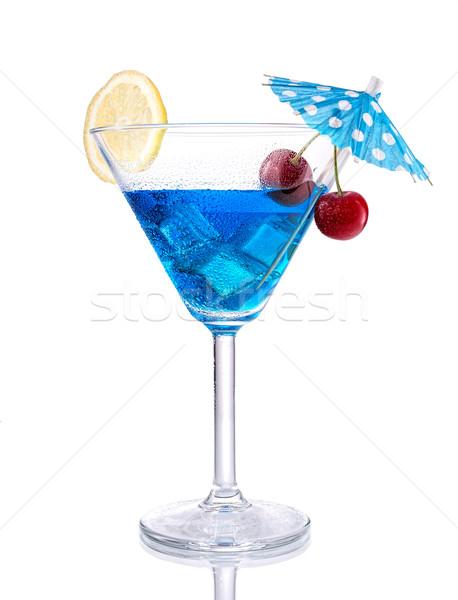 Blue lagoon cocktail Stock photo © Geribody
