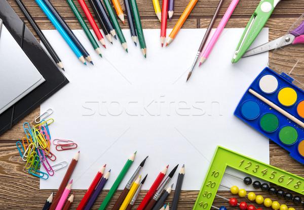 школы канцтовары кадр бумаги карандашом Сток-фото © Geribody