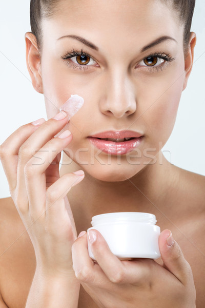 Beautiful woman with flawless skin, facial, hydration, Stock photo © Geribody