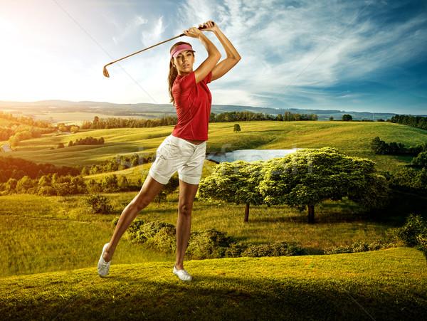 女性 ゴルファー ボール 風景 美人 美しい ストックフォト © Geribody