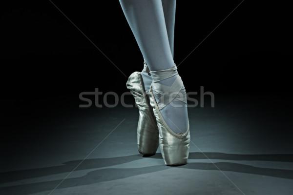 Ballet dancer shoes - gold Stock photo © Geribody