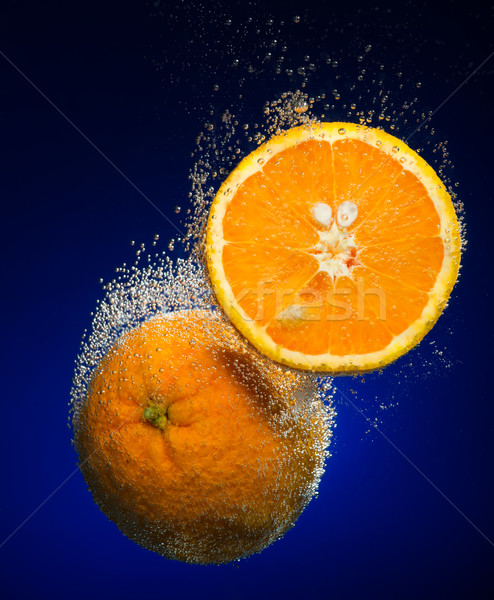Fresh orange with bubbles Stock photo © Geribody