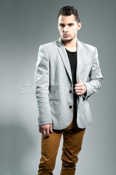 Yakışıklı genç işadamı stüdyo adam moda Stok fotoğraf © Geribody