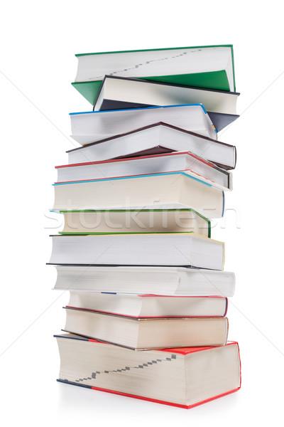 Nagy köteg könyvek iskola papír háttér Stock fotó © Geribody