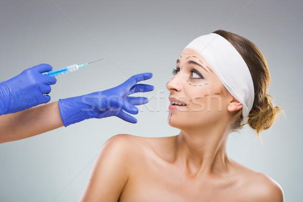 Nem leírás lány arc egészség szépség Stock fotó © Geribody