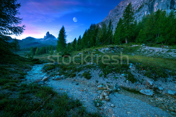 Becco di Mezzo mystical night landscape of mountain  Stock photo © Geribody